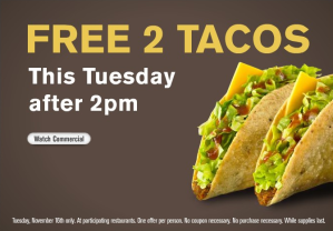 Free Jack in the Box Tacos