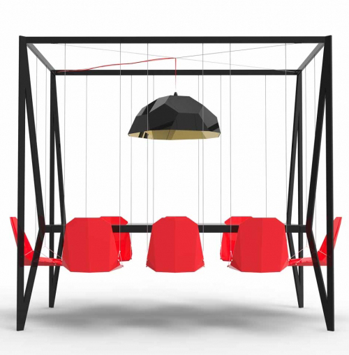 Swing Table - Duffy London Red