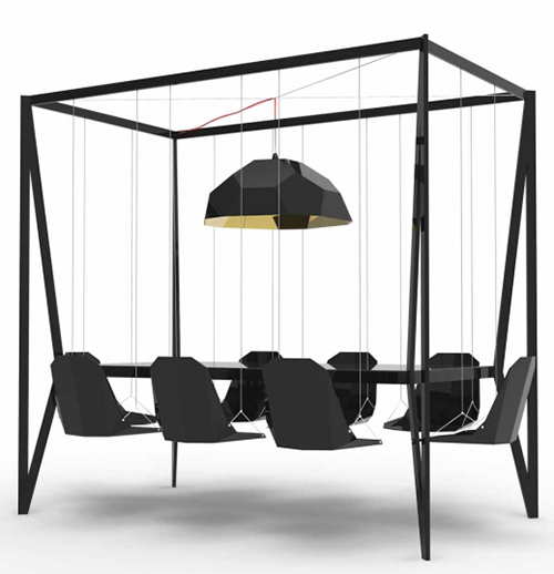 Swing Table - Duffy London Black