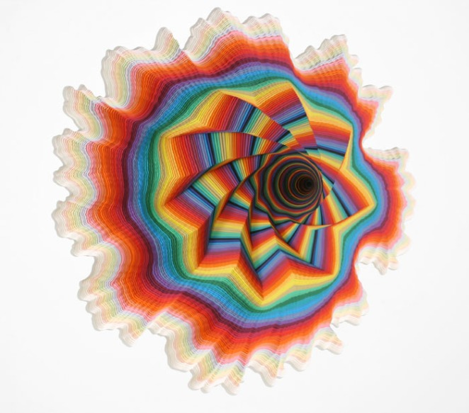 Jen Stark - The Whole colorfull paper sculpture colors