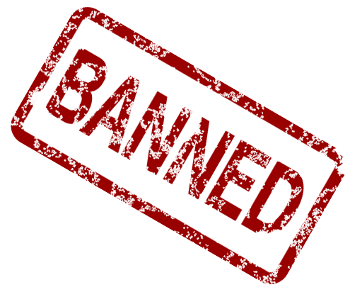 banned prohibited illegal