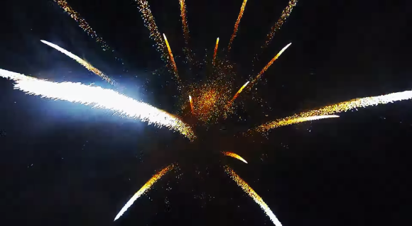 Fireworks drone view